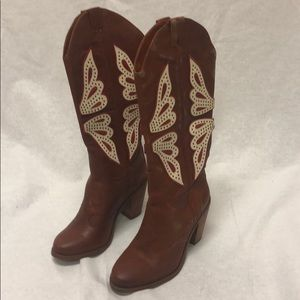Jessica Simpson Women's Boots Leather Upper 6M